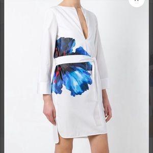 Dsquared floral belted shirt dress